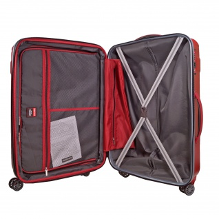 Travelite Vector 4 Rollen Rot 55 cm Trolley 40 L Koffer 72047-88 4