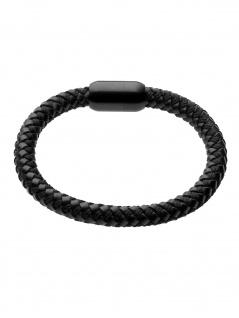 gooix 414-06546 Herren Armband Edelstahl schwarz 21 cm