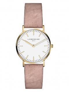 LIEBESKIND LT-0088-LQ Uhr Damenuhr Lederarmband Rosa