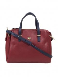 Tommy Hilfiger Damen Handtasche Tasche TH Core Satchel Rot