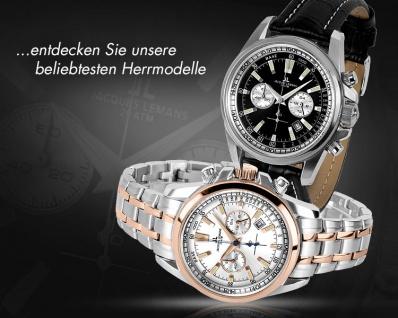 Jacques Lemans 1-1805H Chronograph Uhr Herrenuhr Datum Schwarz - Vorschau 2