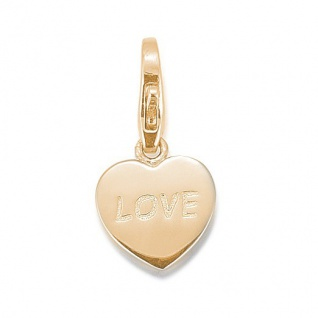 GOOIX GXC435 Damen Charms Herz Silber gold