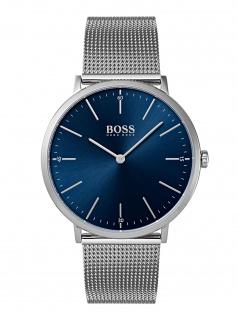 Hugo Boss 1513541 HORIZ Uhr Herrenuhr Edelstahl Silber