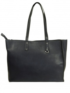 Esprit Damen Handtasche Tasche Henkeltasche Debbie shopper Blau