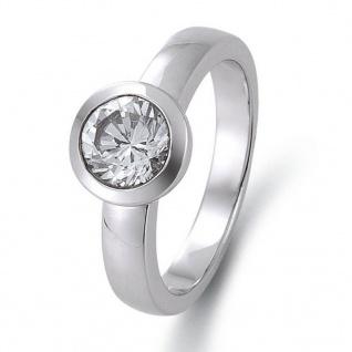 gooix 943-03148-54 Damen Ring Silber Weiß 54 (17.2)