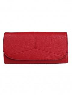 Esprit Damen Geldbörse Geldbeutel Portemonnaies Colby flat clutch Rot