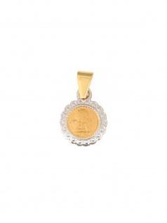 Gerry Eder 22.0097 Anhänger Schutzengel 14 Karat (585) Bicolor Gold