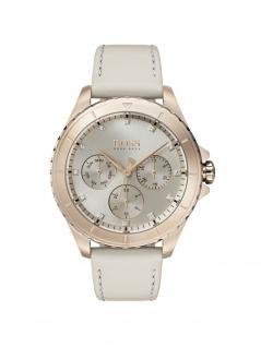 Hugo Boss 1502447 PREMR Uhr Damenuhr Lederarmband Datum Grau