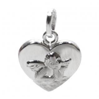 Basic Silber STG39 Kinder Anhänger Herz Schutzengel Silber