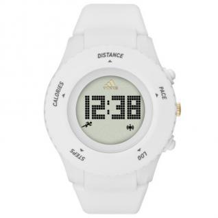 Adidas ADP3204 SPRUNG Uhr Unisex Kautschuk Datum Alarm weiß