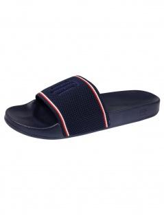 Tommy Hilfiger Schuhe Tommy Knitted Pool Slide Blau Badeschuhe
