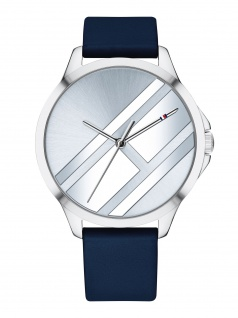 Tommy Hilfiger 1781964 PEYTN Uhr Damenuhr Lederarmband Blau