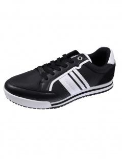 Calvin Klein Herren Schuhe Low Profile Sneaker Laceup PU Schwarz