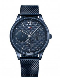Tommy Hilfiger 1791421 DAMON Uhr Herrenuhr Edelstahl Datum blau - Vorschau