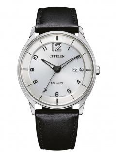 Citizen BM7400-21A Eco Drive Uhr Herrenuhr Lederarmband Datum schwarz