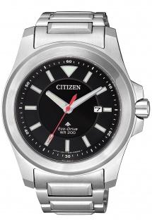 Citizen BN0211-50E Eco Drive Uhr Herrenuhr Edelstahl Datum silber