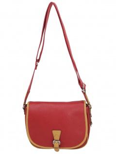 Esprit Damen Handtasche Tasche Schultertasche Susi Saddle Bag Rot