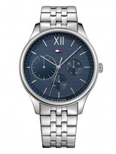 Tommy Hilfiger 1791416 DAMON Uhr Herrenuhr Edelstahl Datum Silber
