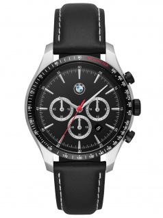 BMW BMW7001 BMW Chronograph Uhr Herrenuhr Leder Chrono Datum schwarz