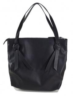 Esprit Damen Handtasche Tasche Henkeltasche Charly Shopper Schwarz