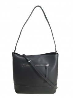 Esprit Damen Handtasche Tasche Henkeltasche Kerry Hobo Schwarz