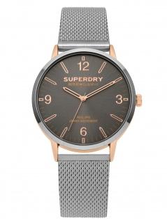 Superdry SYG259SM Uhr Herrenuhr Metall Silber