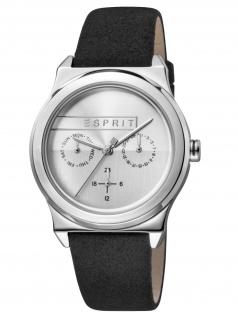Esprit ES1L077L0015 Magnolia Multi Damenuhr Lederband Datum Schwarz