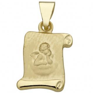 Basic Gold EN15 Kinder Anhänger Schutzengel 14 Karat (585) Gelbgold