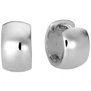 Basic Silber Damen SCR15 Creolen Silber Ohrschmuck