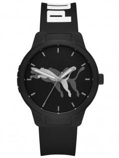 PUMA P5065 Uhr Herrenuhr Kautschuk schwarz