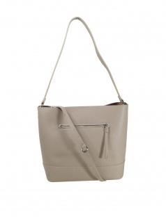 Esprit Damen Handtasche Tasche Henkeltasche Kerry Hobo Grau