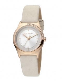 Esprit ES1L116L0055 Hood Uhr Damenuhr Lederarmband Beige