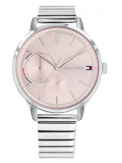 Tommy Hilfiger 1782020 BROKE Uhr Damenuhr Edelstahl Datum Silber