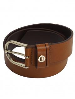 Tommy Hilfiger Damen Gürtel Jeansgürtel Classic Belt Leder 95cm Braun