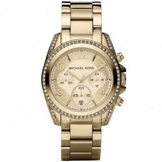 Michael Kors MK5166 BLAIR Chronograph Uhr Damenuhr Edelstahl gold