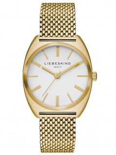 LIEBESKIND LT-0062-MQ Uhr Damenuhr Edelstahl Gold