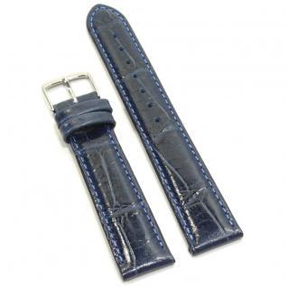 Condor Uhrenband 11320-22-50 Ersatzarmband 22 mm Louisiananarbung blau