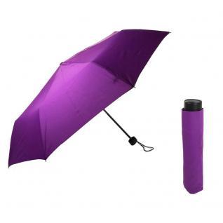 Flash Super Mini Flash solid Violett Regenschirm Taschenschirm