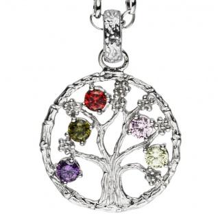 Julie Julsen® Damen Anhänger Lebensbaum bunt Baum des Lebens