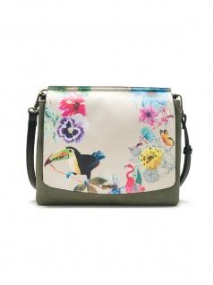 Desigual Damen Handtasche Tasche LILAC AMBERES Grün 18SAXF48-4092