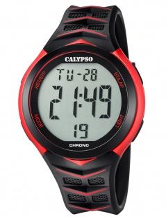 Calypso K5730/3 Chrono Uhr Herrenuhr Kunststoff Datum Alarm schwarz