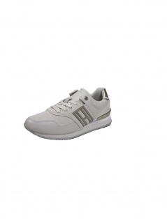 Tommy Hilfiger Damen Casual Material Mix City Runner Grau Sneakers