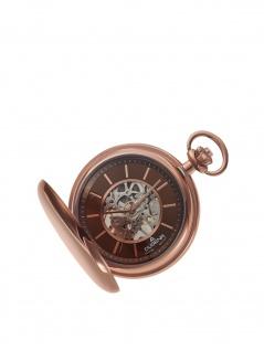 Dugena 4460977-1 Taschenuhr Savonette mit Kette Uhr Herrenuhr braun