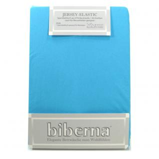 Biberna 77866-261 Jersey Elastic Spannbetttuch Türkis 140x200 160x220