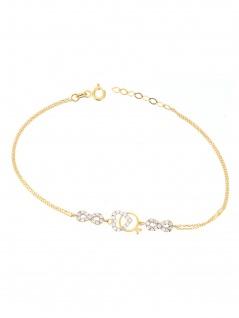 Gerry Eder 42.EG104 Armband Herz Ring 14 Karat (585) Gold Weiß 19 cm