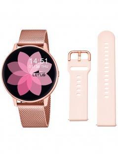 Lotus 50015/1 Smartime Uhr Damenuhr Kautschuk Datum Alarm rosa