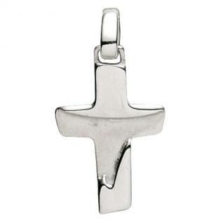 Basic Silber 27.9154S Damen Anhänger Kreuz Silber
