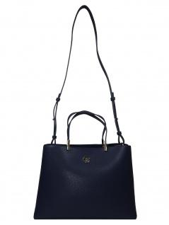 Tommy Hilfiger Damen Handtasche Tasche TH Core Satchel Blau AW0AW07968