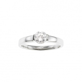 XENOX XS7087 Damen Ring Silver Circle Silber weiß 54 (17.2)