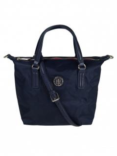 Tommy Hilfiger Damen Handtasche Tasche Poppy Small Tote Blau